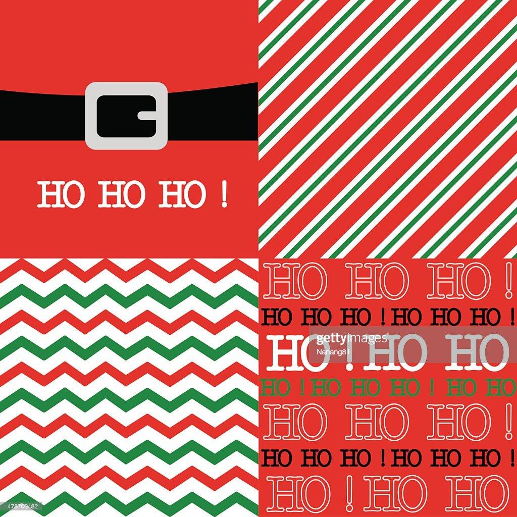 Chevron and stripes with Santa belt illustration design