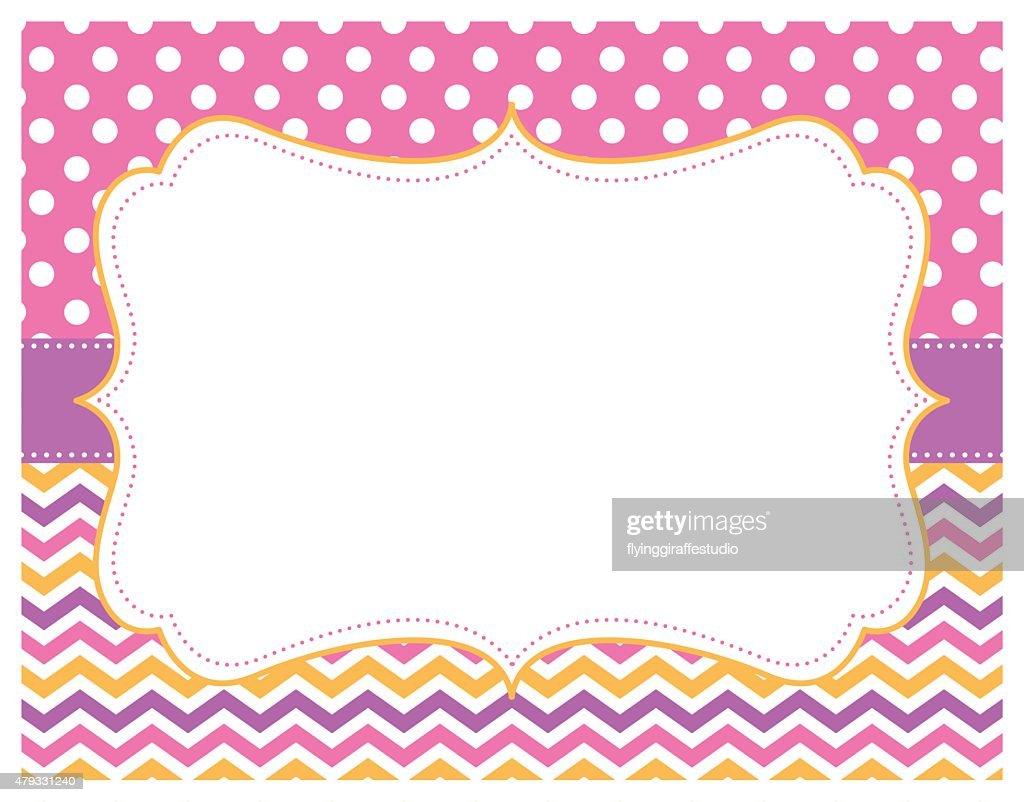 Chevron Polka Dot Pink Purple Yellow Background