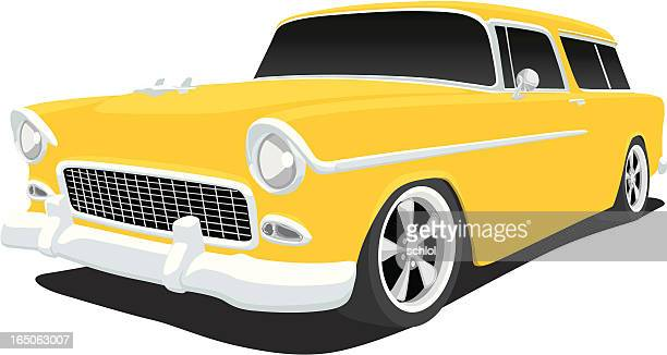 chevy nomad - hood ornament stock illustrations