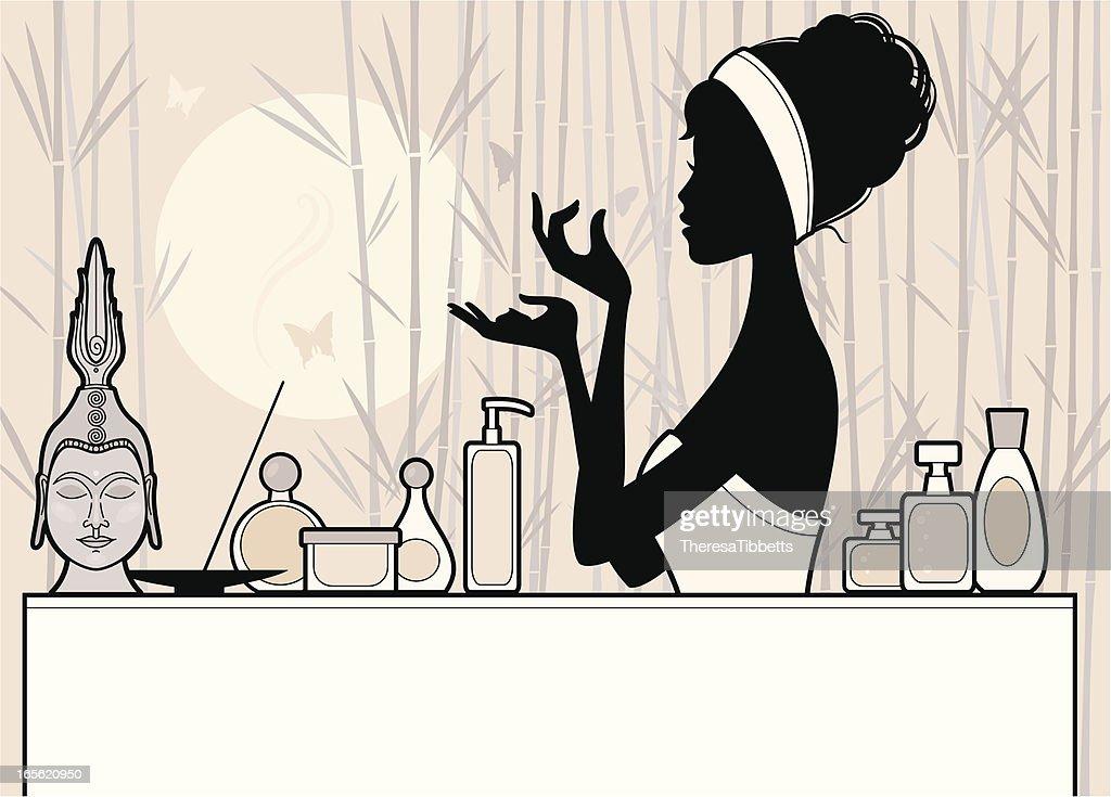 Chic Beauty Routine : stock illustration