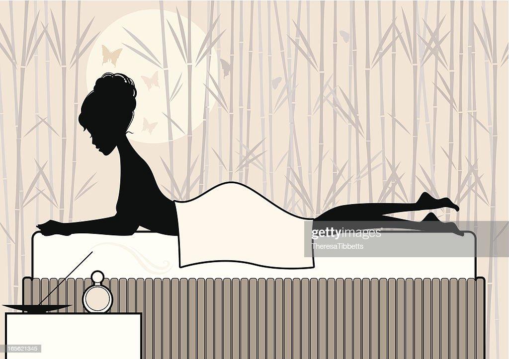 Chic Massage : stock illustration