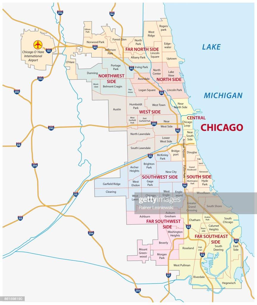 chicago, Illinois community map