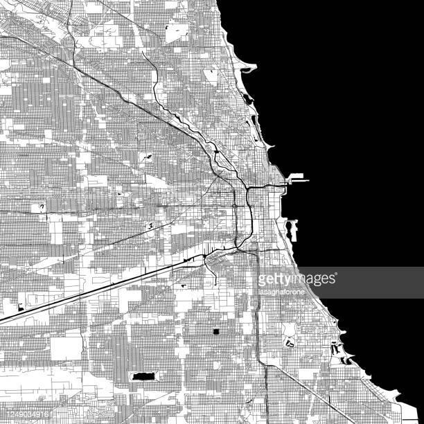 シカゴイリノイ州 - ベクターマップ - 現代美術館点のイラスト素材/クリップアート素材/マンガ素材/アイコン素材