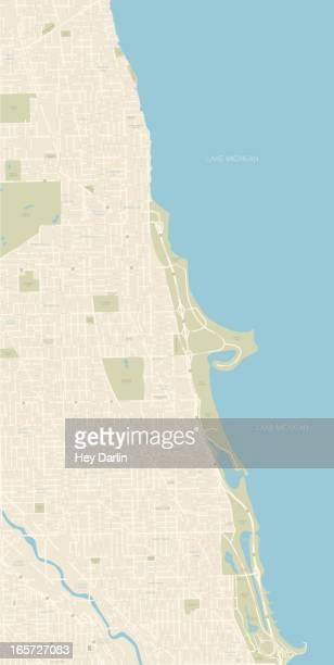 Chicago Map Northern Coast