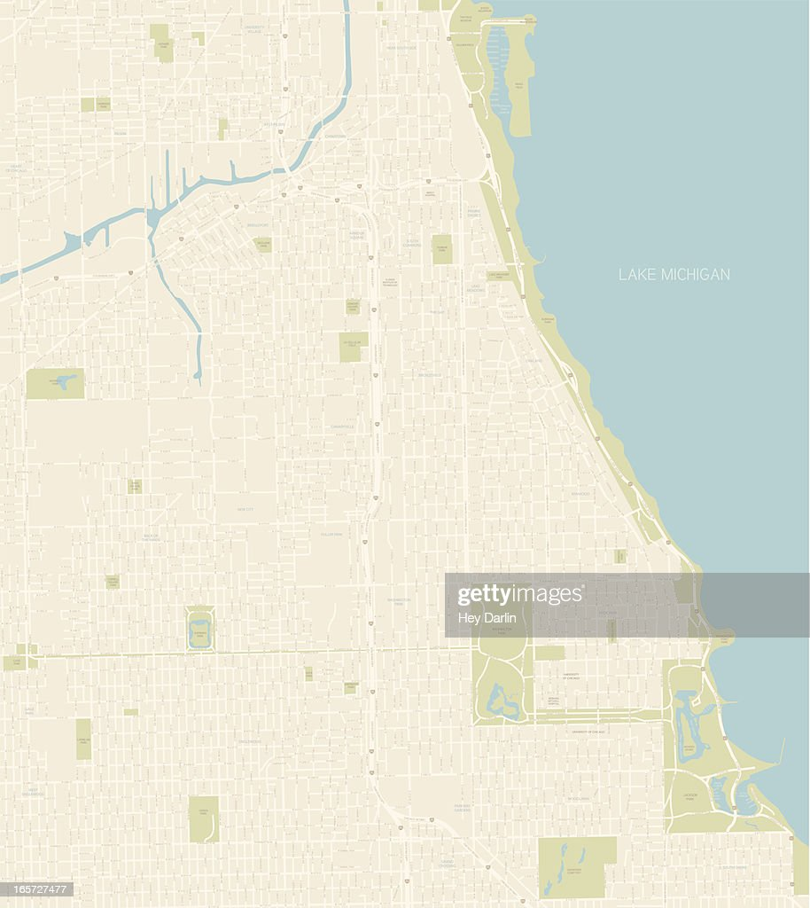 Chicago Map Southern Coast