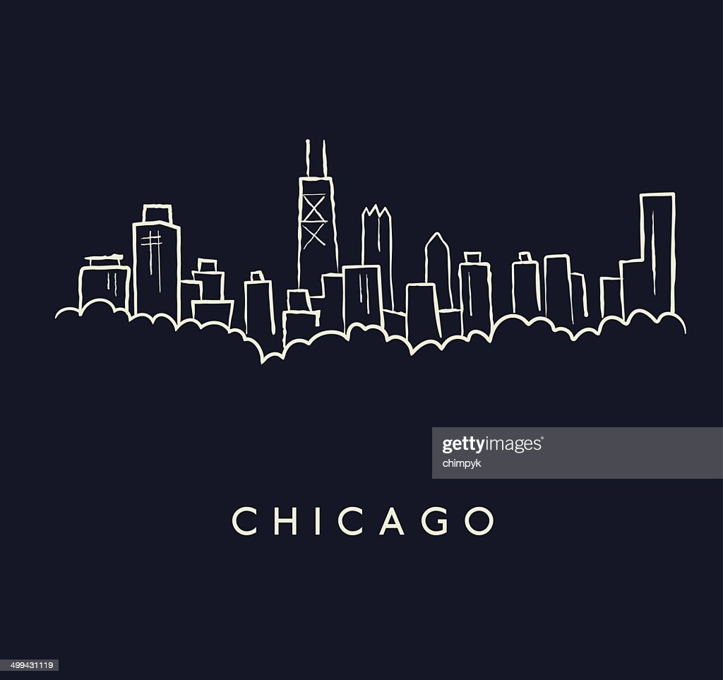 Chicago Skyline Sketch