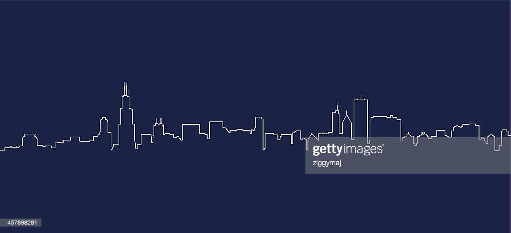 Chicago Skyline : Stock Illustration
