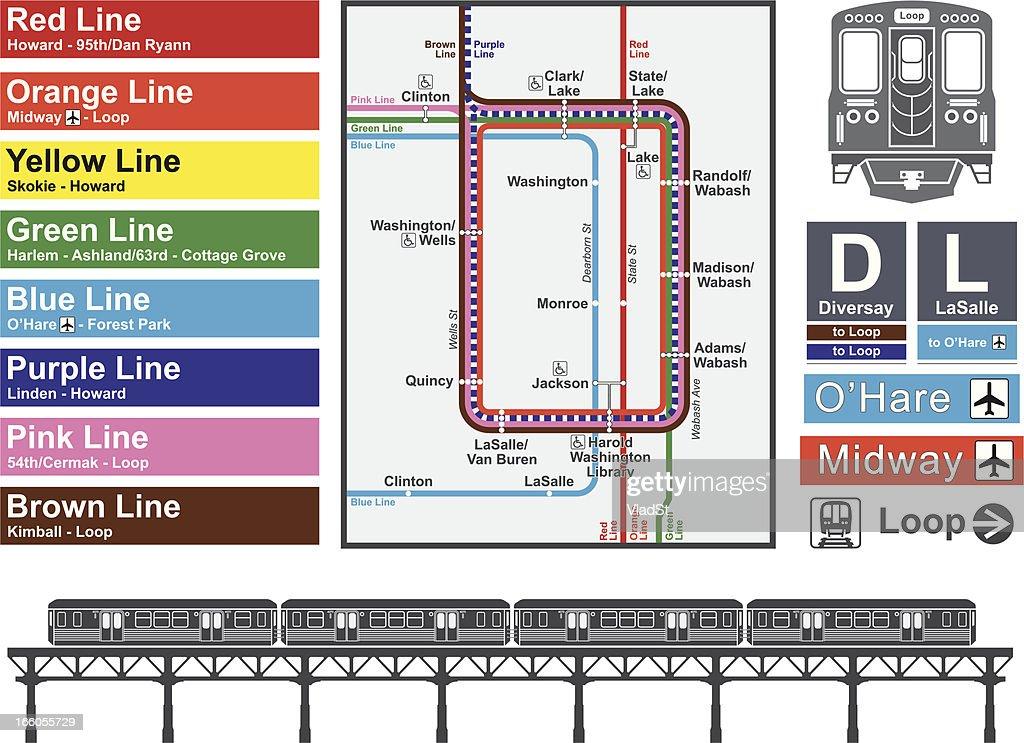Chicago transportation : stock illustration