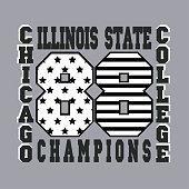 chicago, typography, graphics, t-shirt
