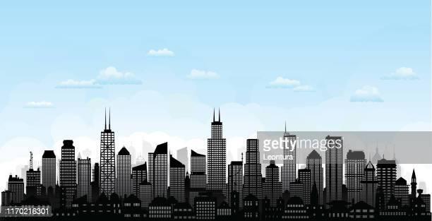 Vector Illustration - Chicago skyline. EPS Clipart gg58987292 - GoGraph