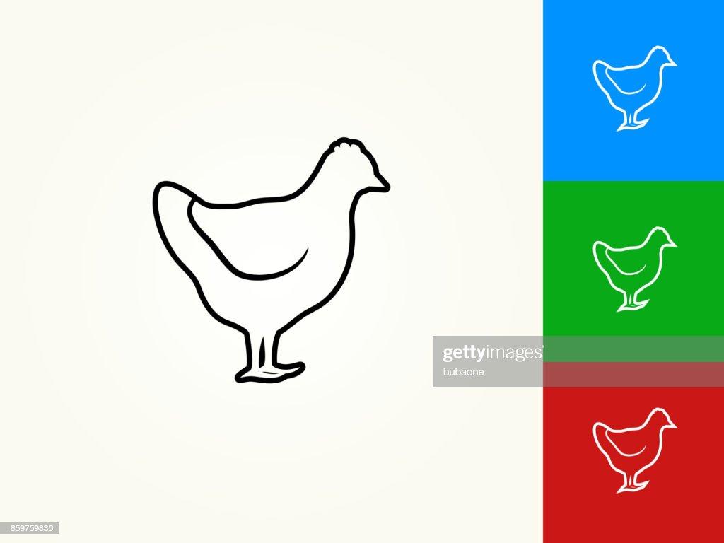 Chicken Black Stroke Linear Icon