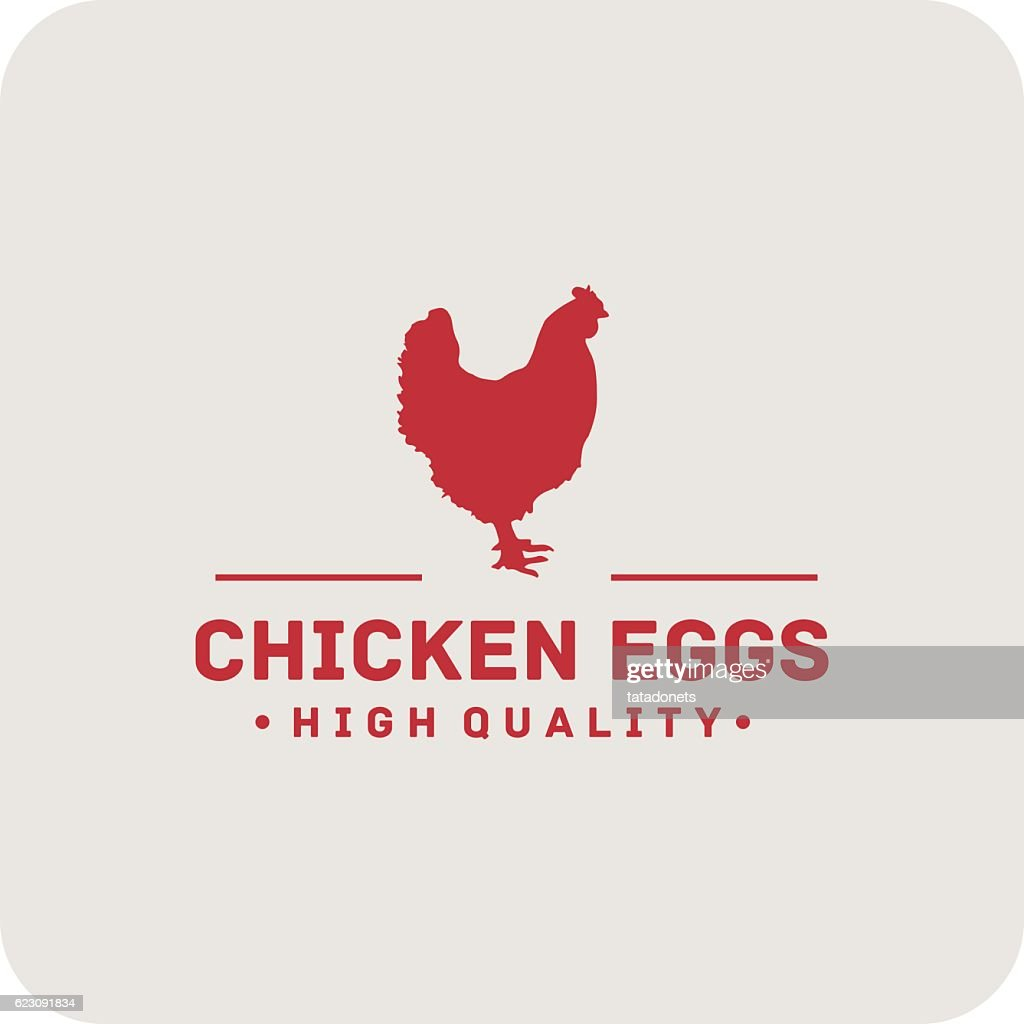Chicken Eggs Label. High quality Label vintage
