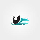 Chicken farm icon template,livestock