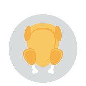chicken Flat vector icon