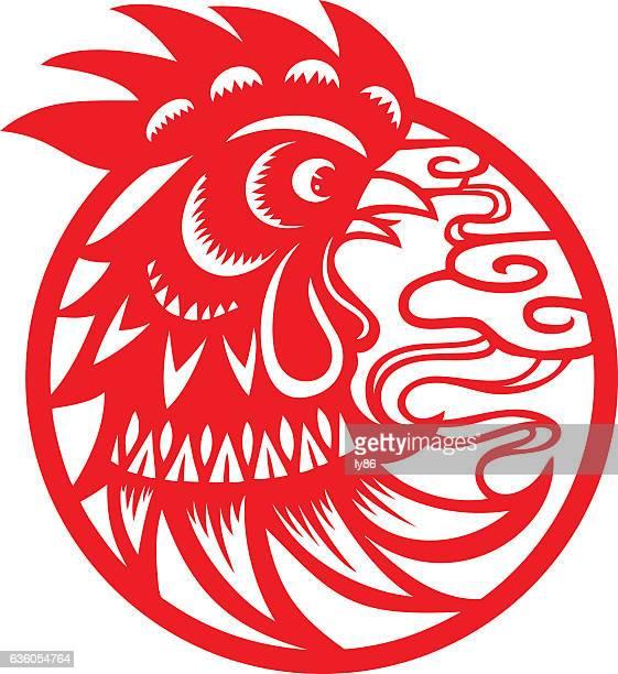 ilustrações, clipart, desenhos animados e ícones de cabeça de frango - cockerel