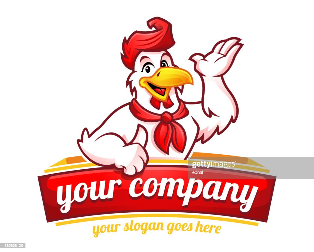 Chicken mascot or chicken character, suitable for restaurant business