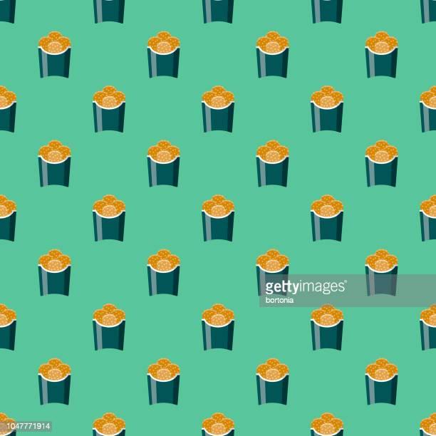ilustraciones, imágenes clip art, dibujos animados e iconos de stock de calle de nuggets de pollo alimentos patrones sin fisuras - industria alimentaria