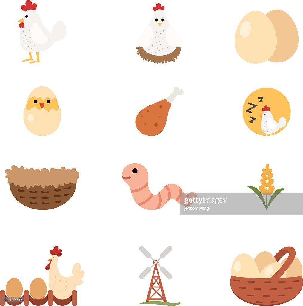 chicken set icon