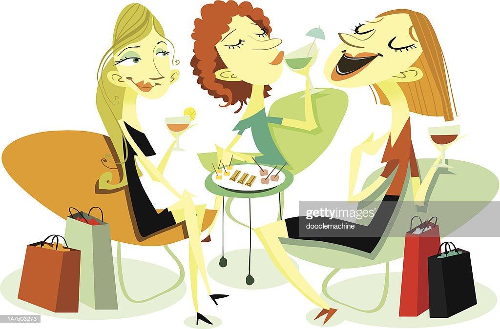 Chicks Chatting : stock illustration