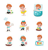 child activity illustrations
