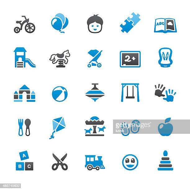 Child and Childhood related vector icons