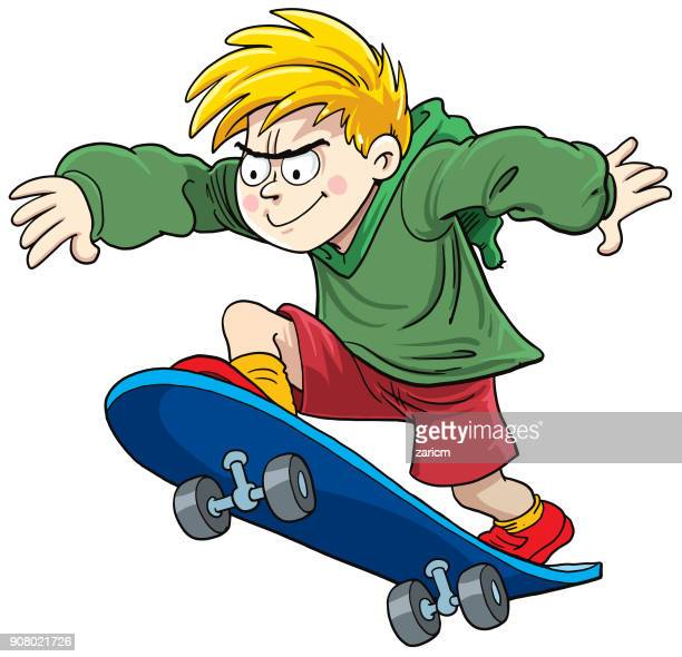 1 525 Iillustrations Cliparts Dessins Animes Et Icones De Skate Board Getty Images