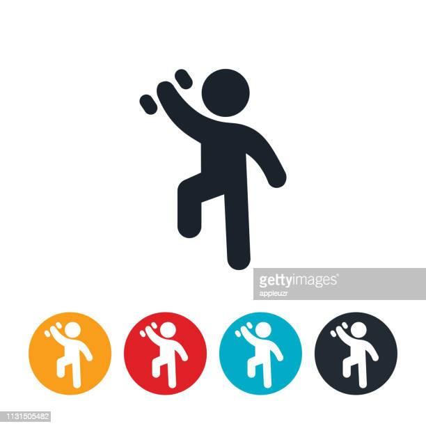 ilustraciones, imágenes clip art, dibujos animados e iconos de stock de niño haciendo ejercicio con icono de pesa de gimnasia - entrenamiento con pesas