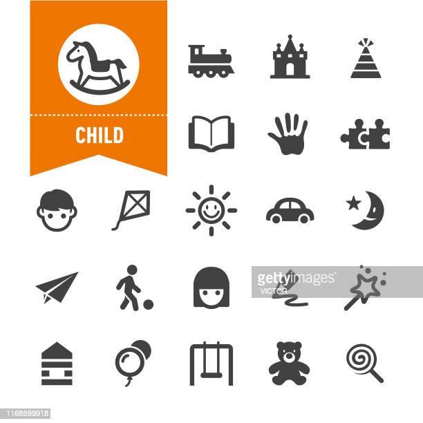 illustrations, cliparts, dessins animés et icônes de icônes d'enfant - série spéciale - enfance