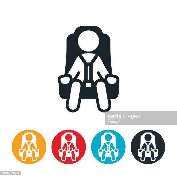 Child In Car Seat Icon