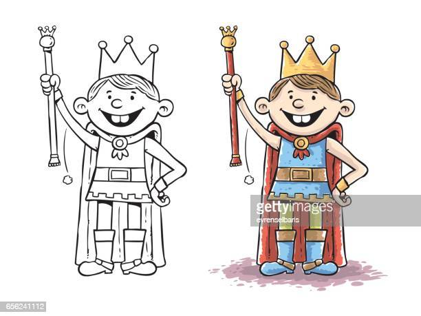 child king - actor stock illustrations, clip art, cartoons, & icons