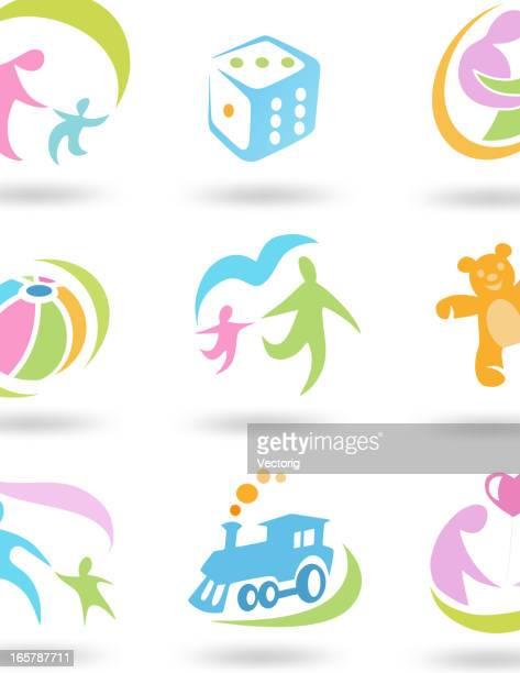 child set icon - adult stock illustrations, clip art, cartoons, & icons