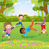 Child Somersaulting
