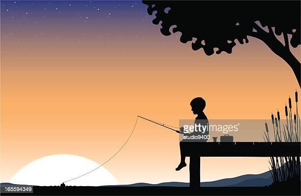 Child Sunrise fishing
