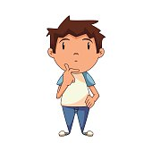Boy Thinking Clip Art Free Vector