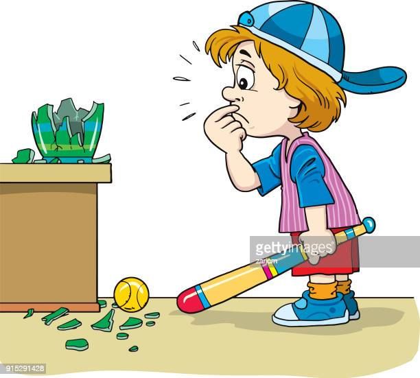child took the blame for the broken vas - vase stock illustrations, clip art, cartoons, & icons