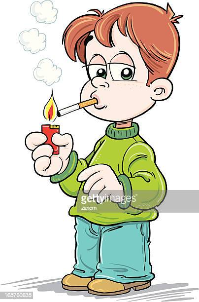 child - smoking issues stock illustrations, clip art, cartoons, & icons