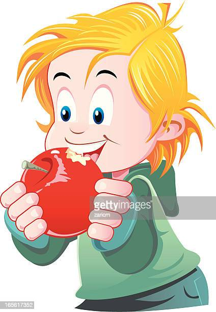 World S Best Eating Apple Drawing Stock Illustrations
