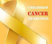 Childhood Cancer Awareness gold ribbon background
