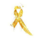 Childhood Cancer Awareness Ribbon.