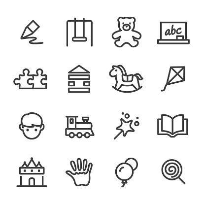 Childhood Icons - Line Series - gettyimageskorea