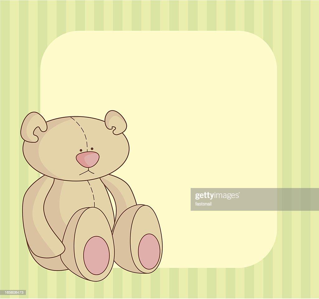 Childish Teddy Bear Photo Frame Vector Art | Getty Images