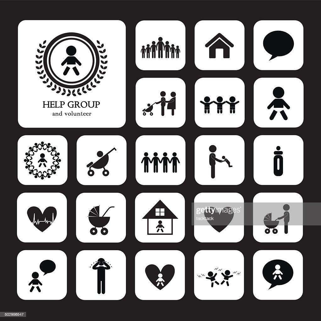 children action welfare icon