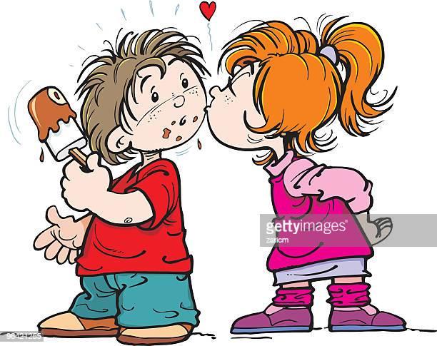 children and ice-cream - eating ice cream stock illustrations, clip art, cartoons, & icons