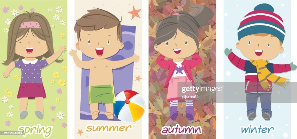 children and seasons