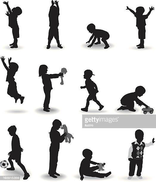 ilustraciones, imágenes clip art, dibujos animados e iconos de stock de niños jugando - puppet