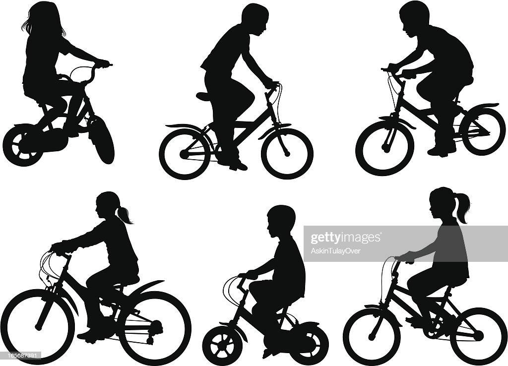 children bicycle : stock illustration