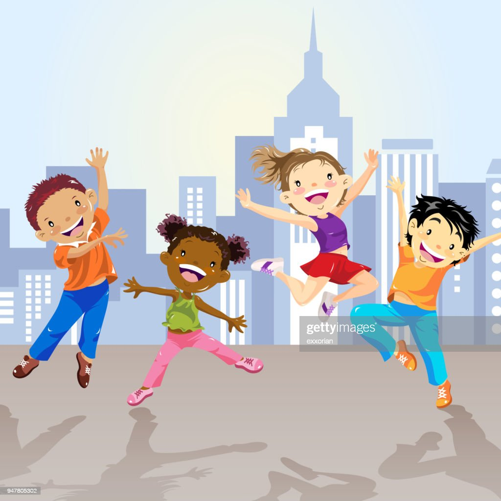 Children Dancing In The City