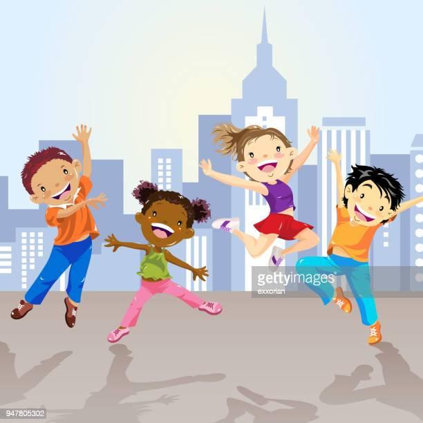Children Dancing In The City