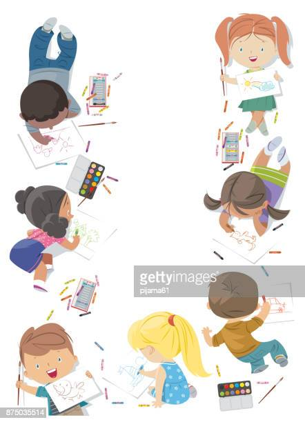 kinderen tekenen frame