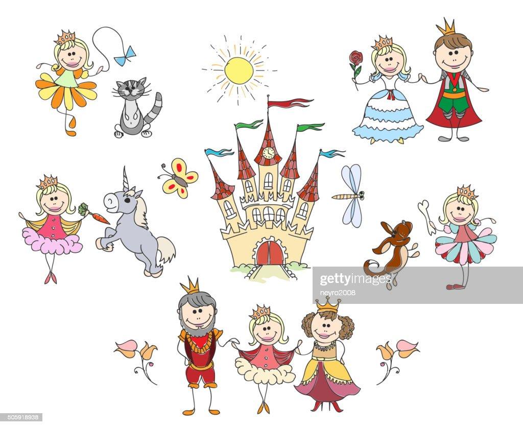 Children drawings for little girl